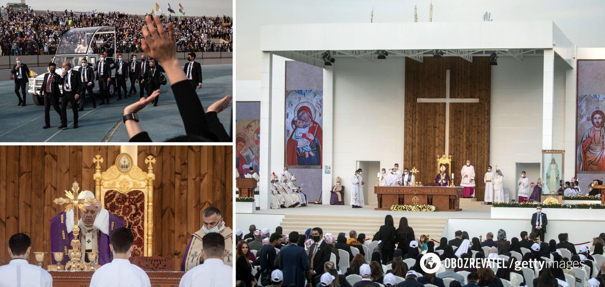 Папа Римський провів єдину масову месу на стадіоні в Іраку. Фото і відео