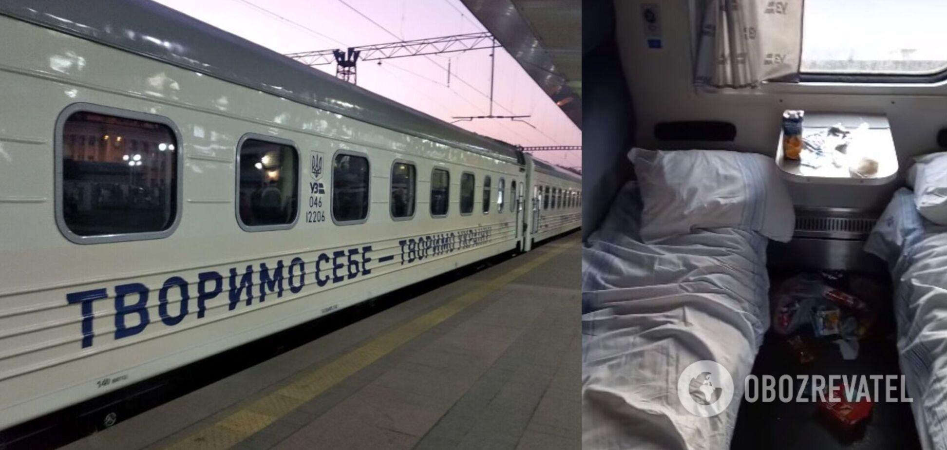 Юные спортсмены 'разгромили' вагон 'Укрзалізниці': в сеть попало видео