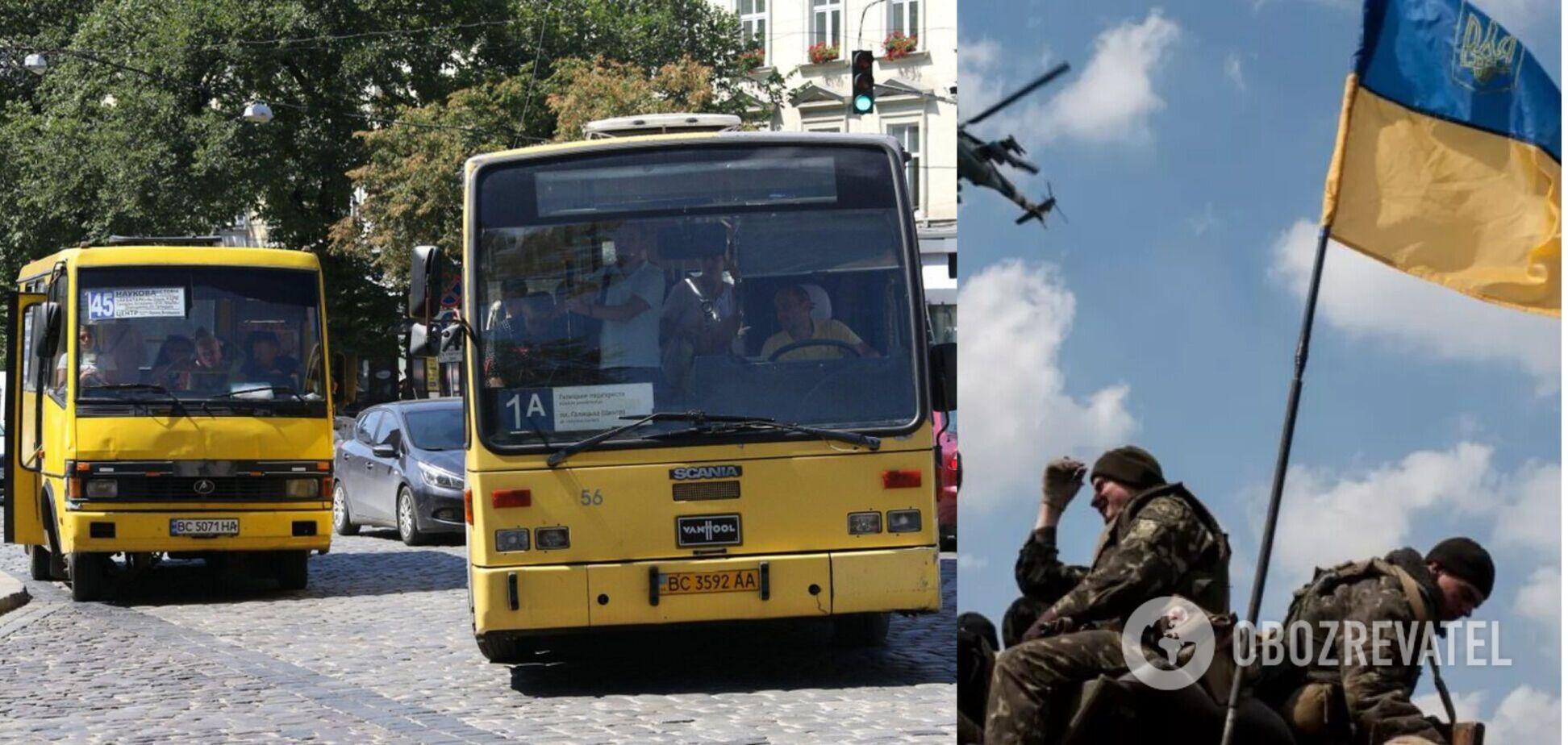 На Львовщине водитель выгнал из маршрутки дочь погибшего воина АТО. Видео
