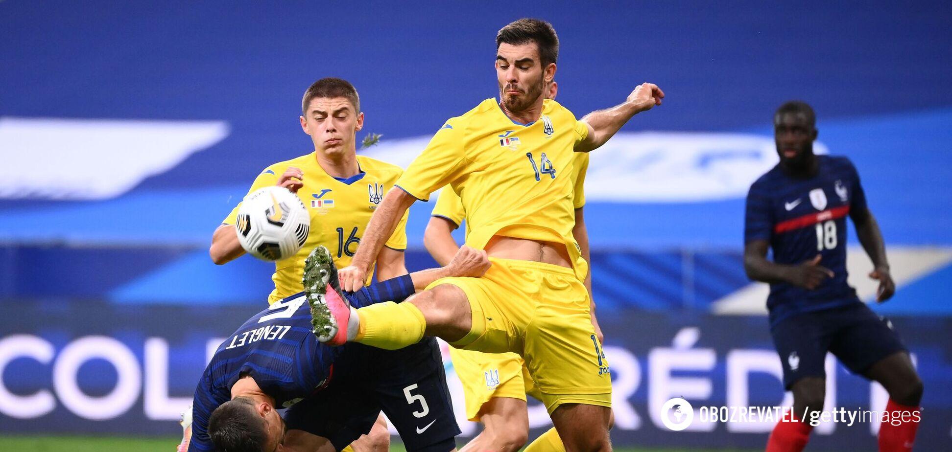 Игорь Харатин в матче против Франции