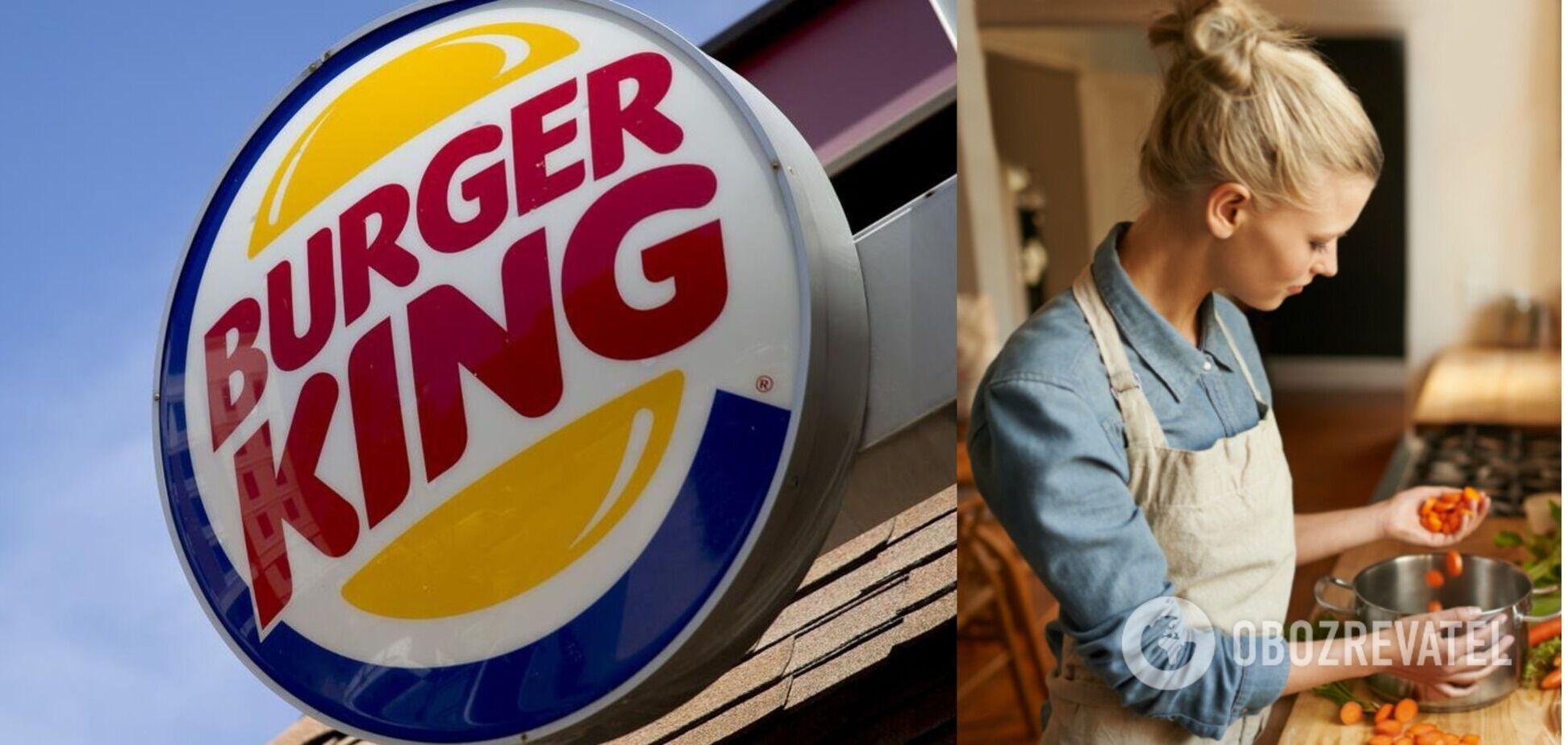 Сеть Burger King в Британии попала в скандал из-за твита, что 'женщинам место на кухне'