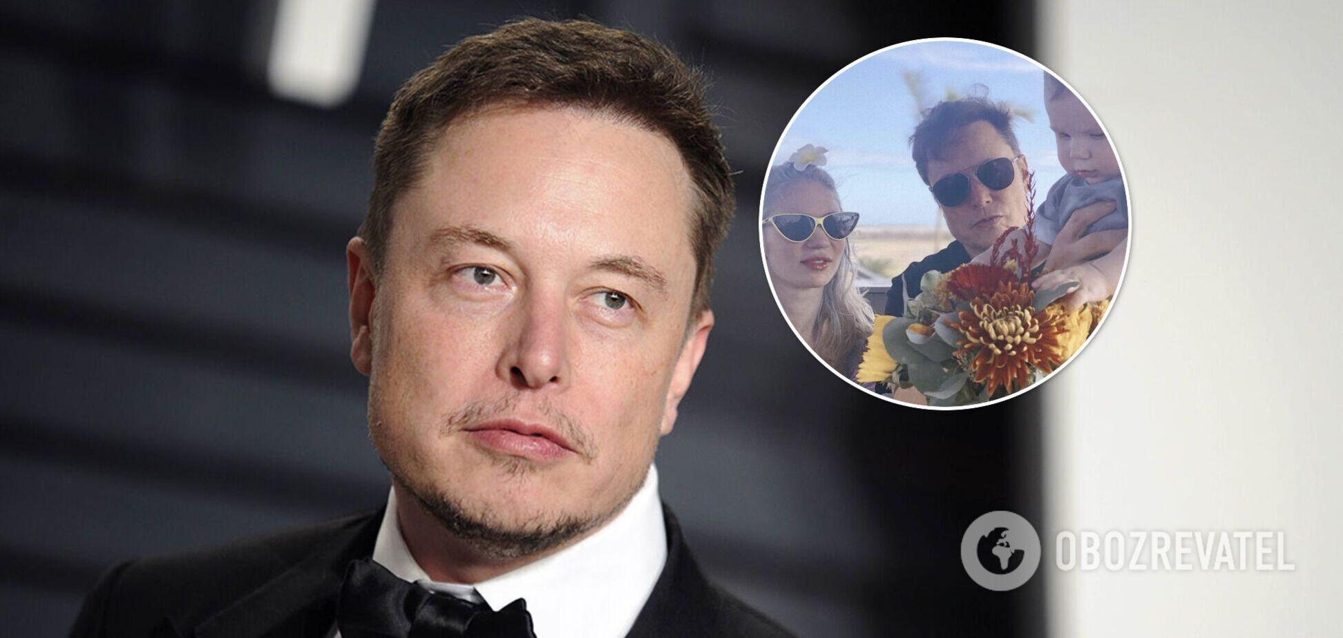 Маск показав рідкісне фото з дружиною і підрослим сином у місті майбутнього