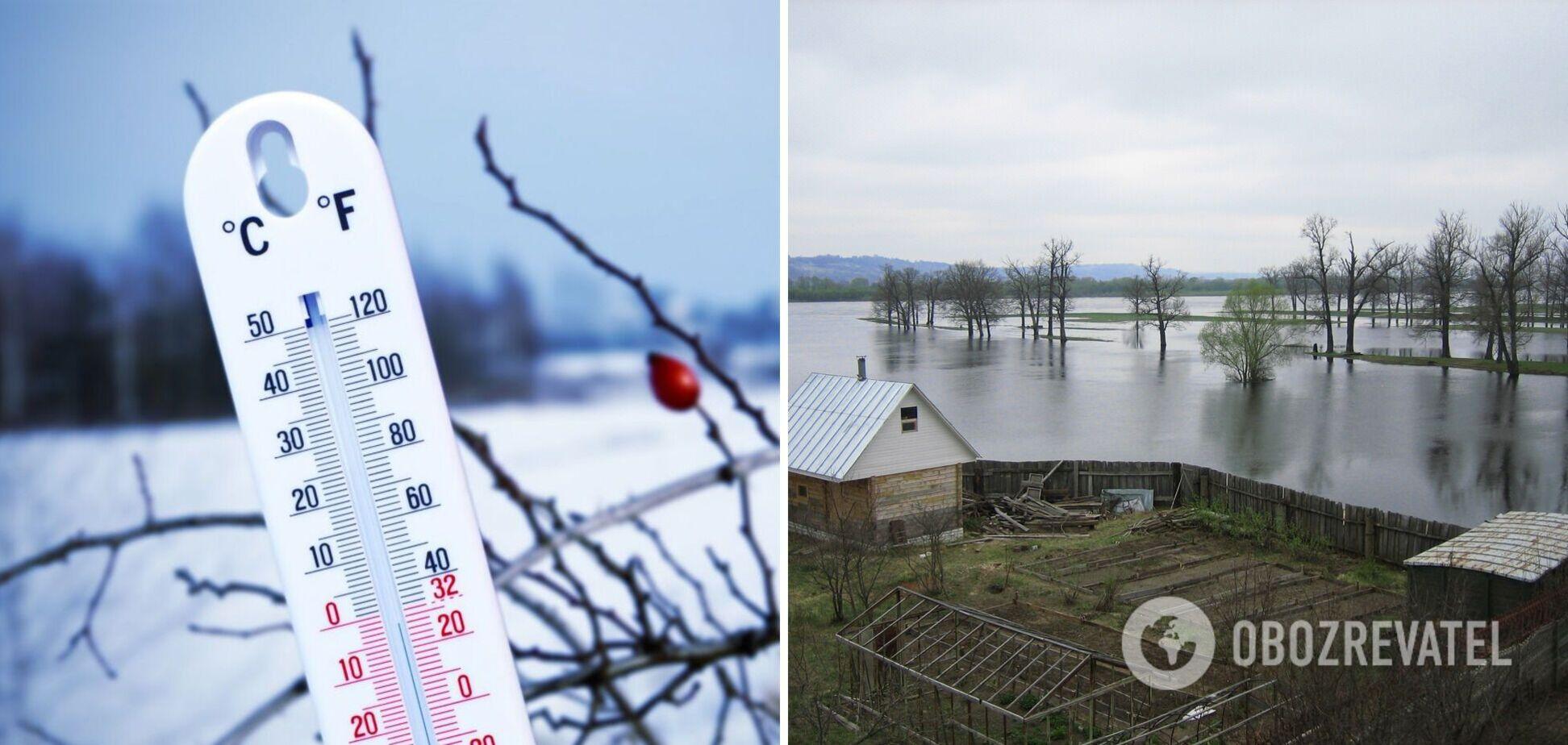 Похолодання і загроза підтоплення на заході: з'явився прогноз погоди в Україні на вівторок. Карта