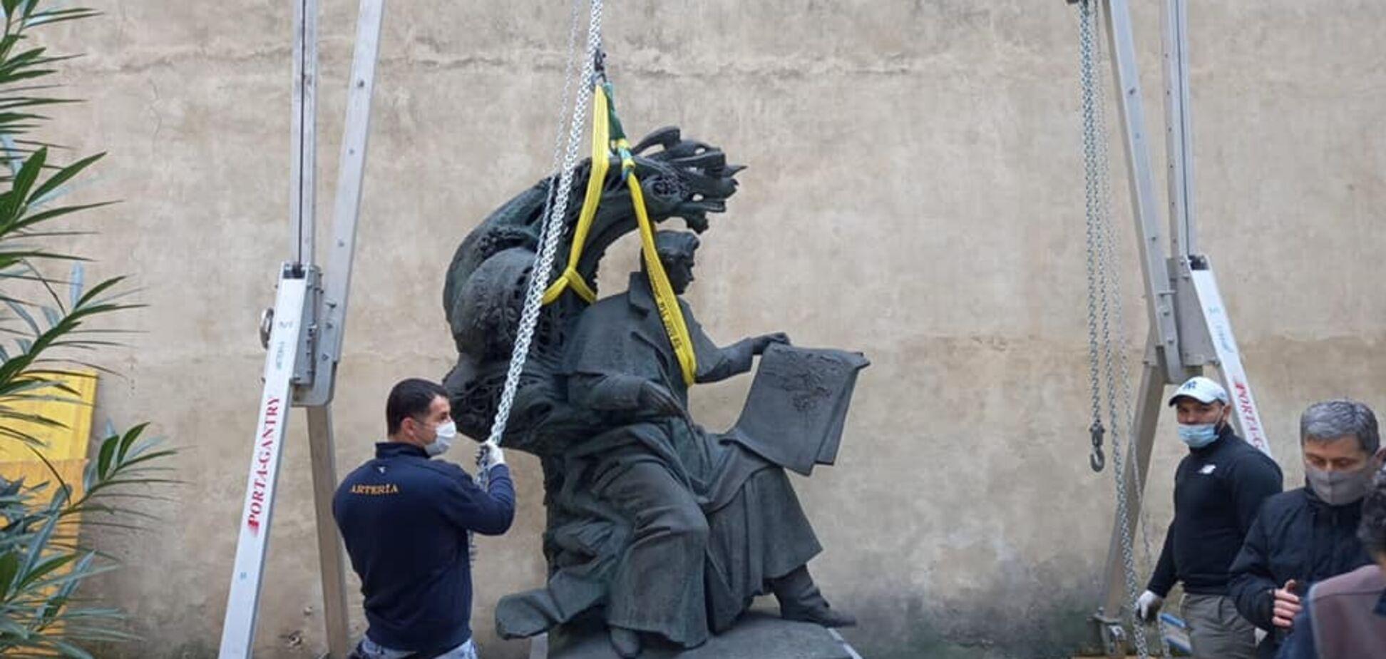 Во Флоренции открыли памятник Тарасу Шевченко. Фото и видео