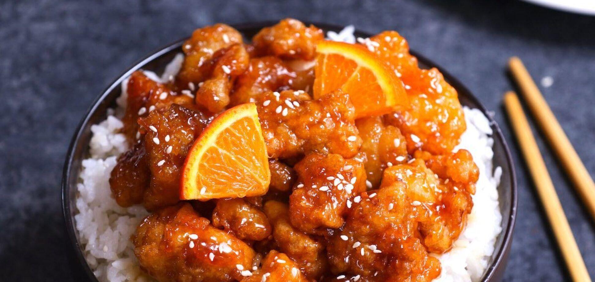 курицы в апельсиновом соусе