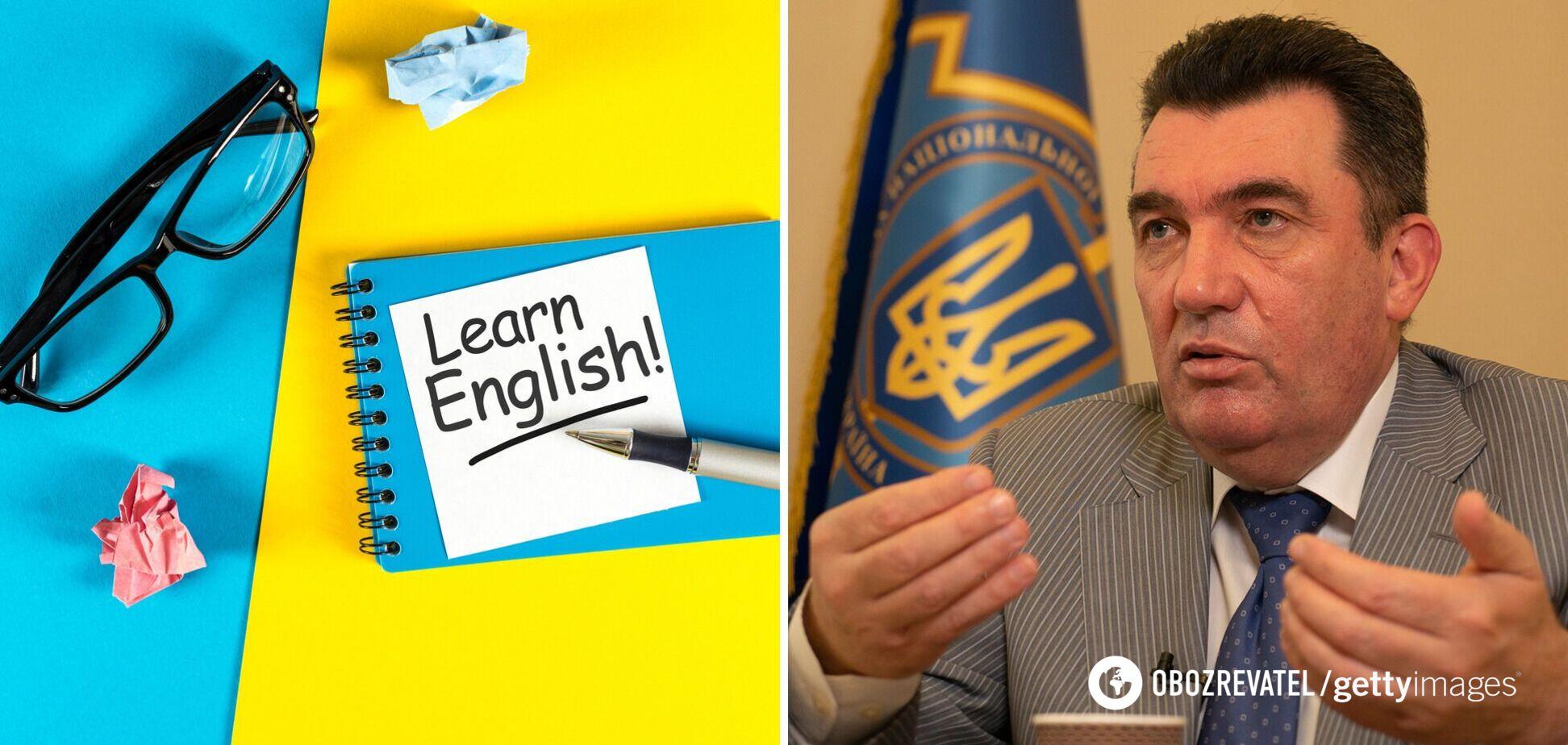 Другою мовою в Україні має бути англійська, – Данілов