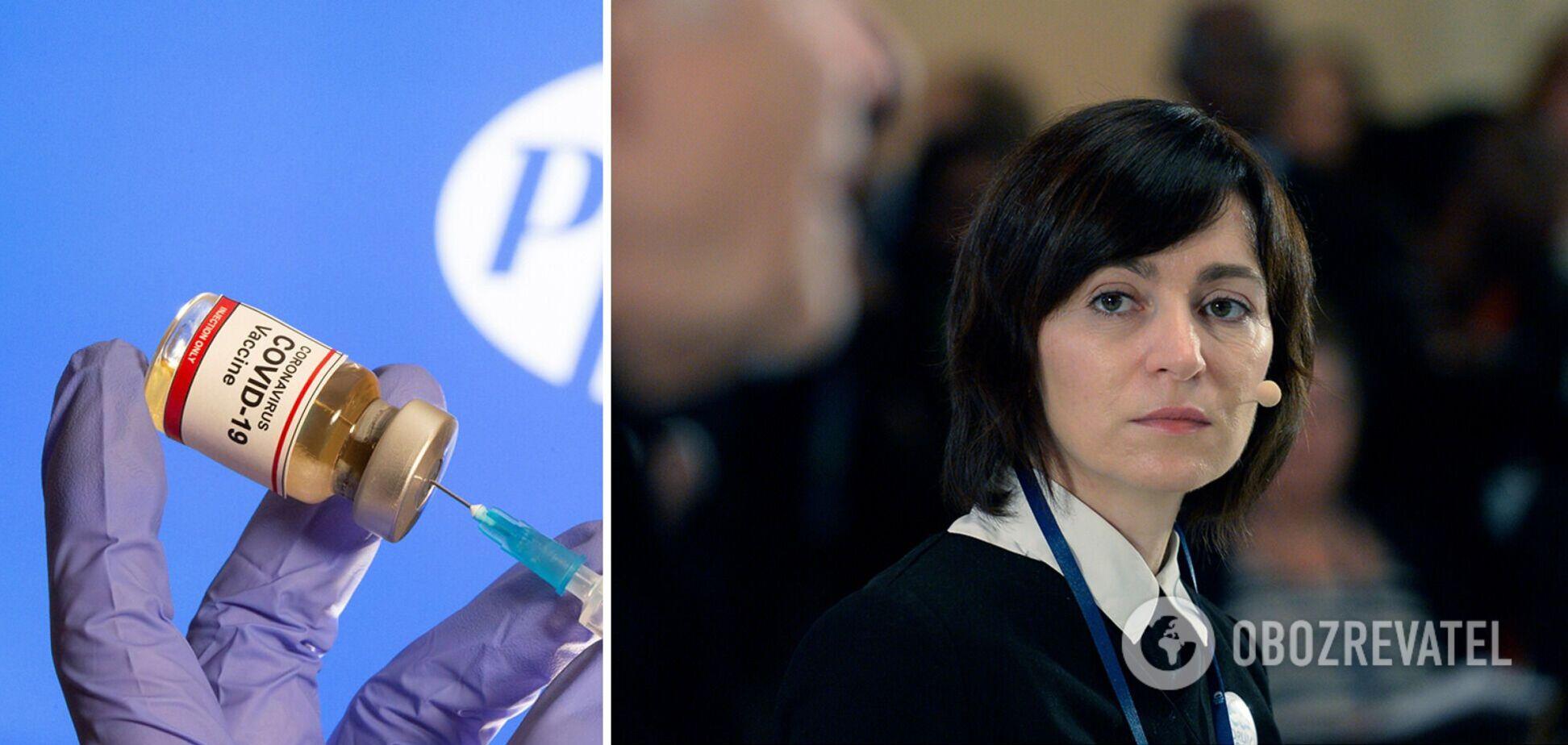 Президент Молдовы назвала позором внеочередную вакцинацию против COVID-19