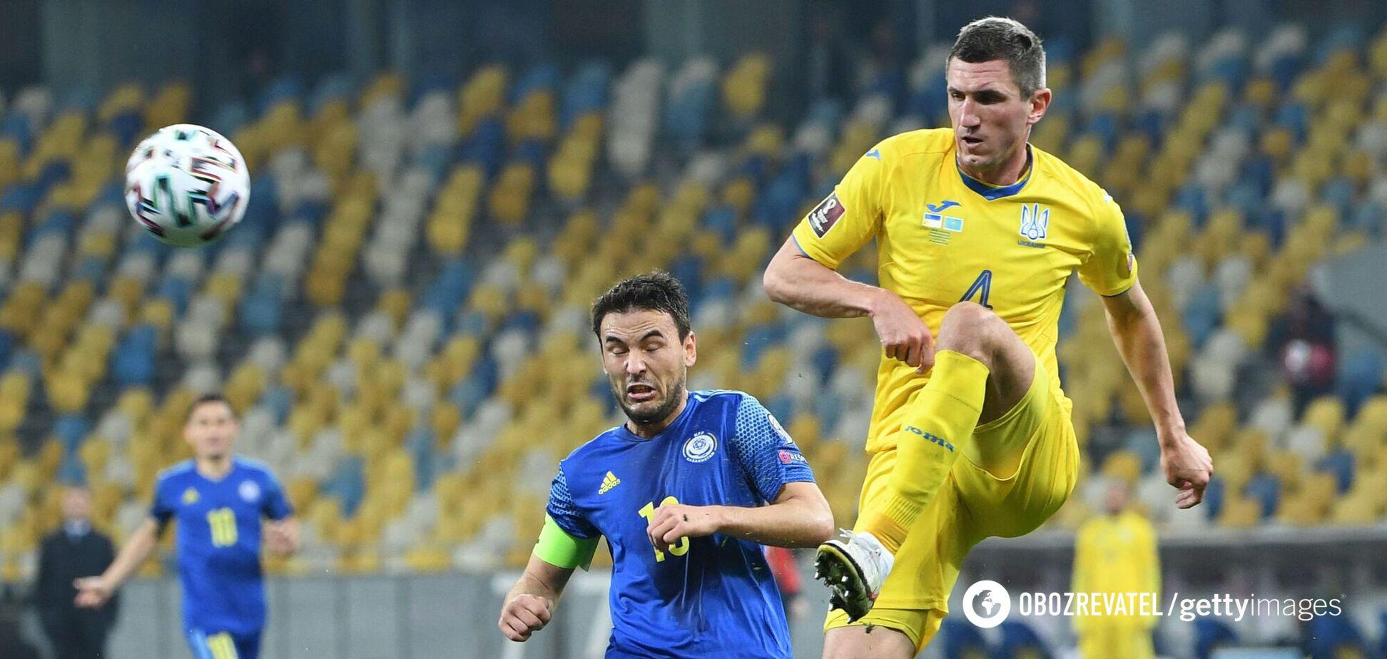 Сергей Кривцов в матче против Казахстана