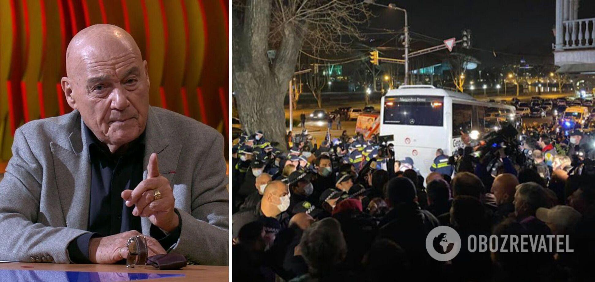 Познер потрапив у скандал і викликав протести