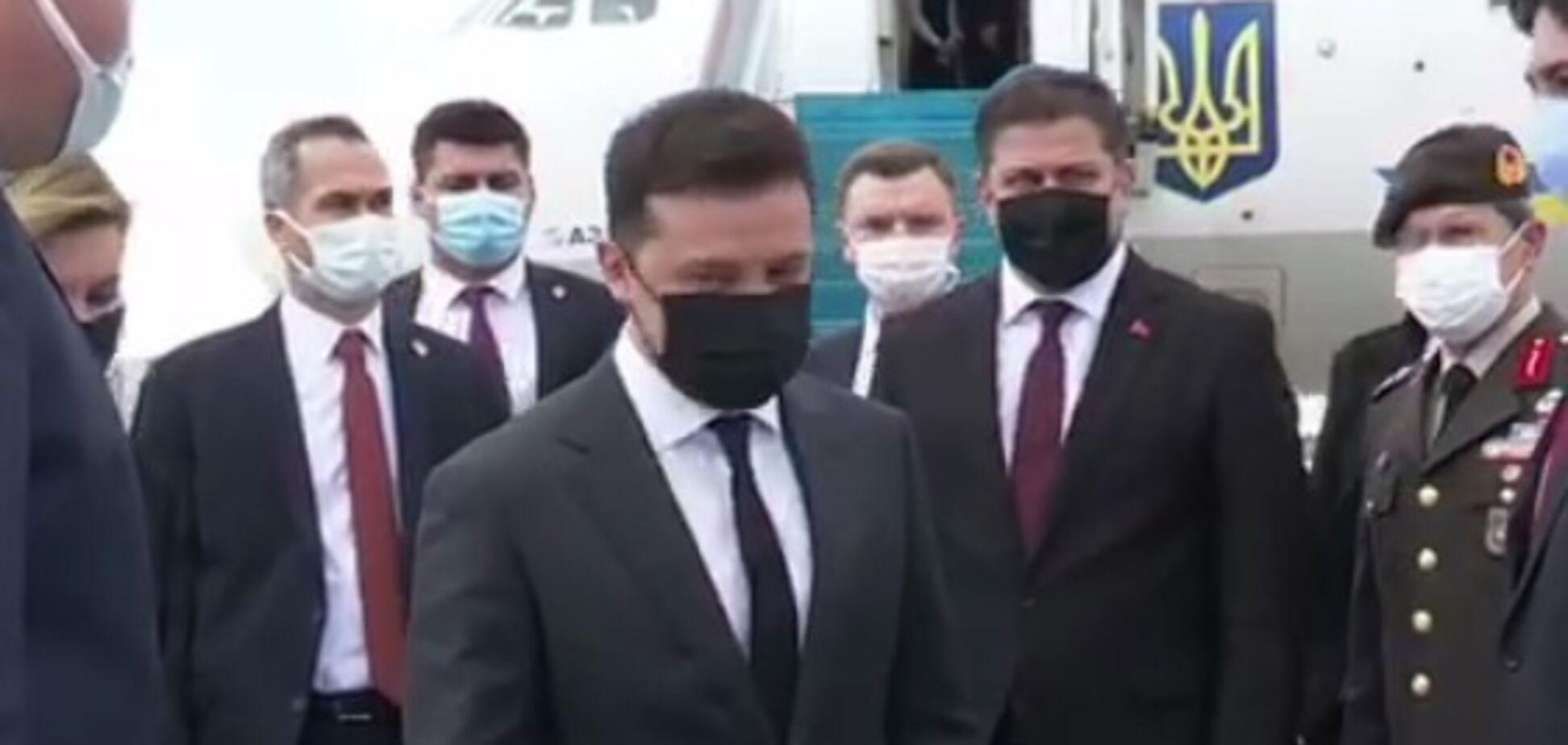 Зеленский прибыл в Турцию