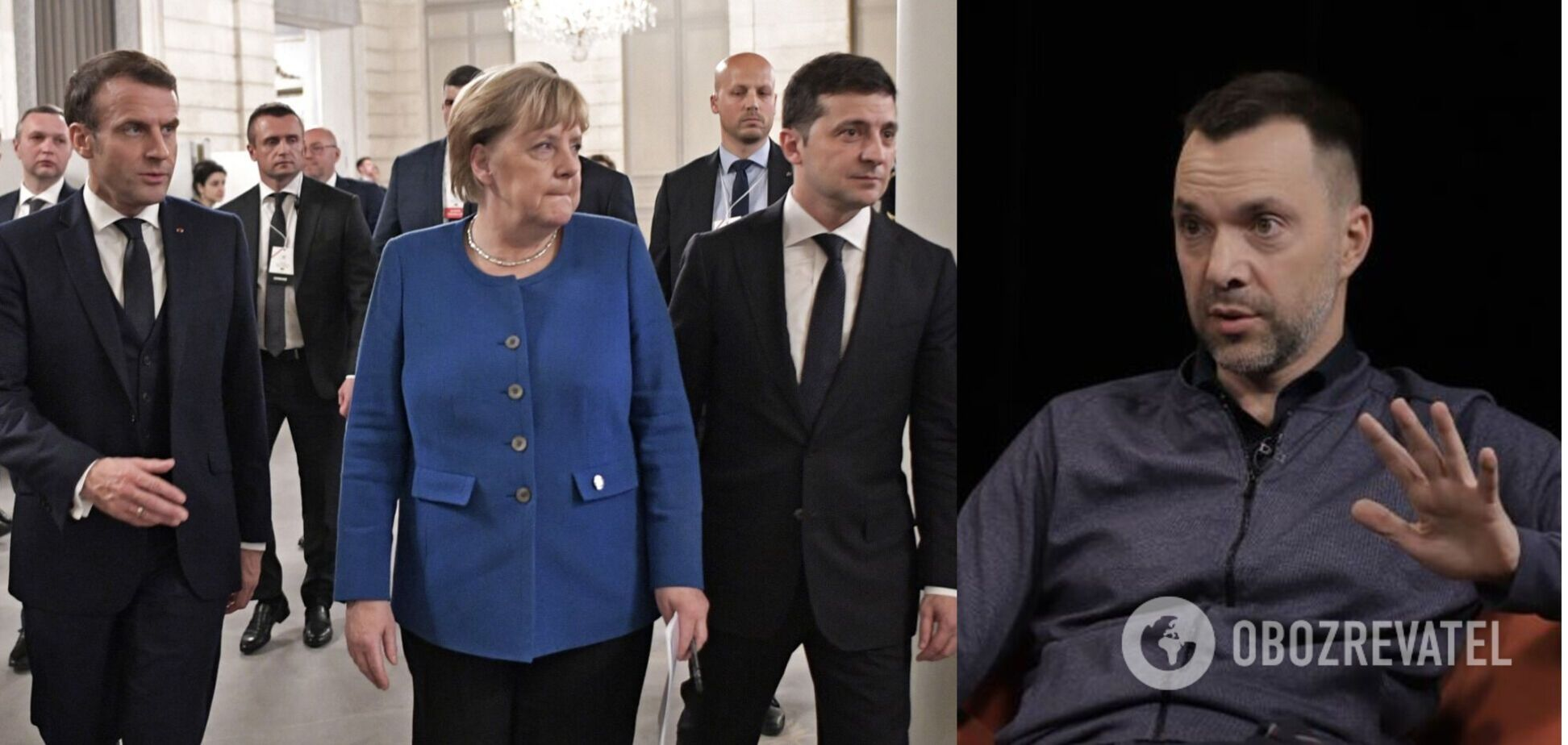Арестович озвучил сроки встречи лидеров 'нормандского формата' без России