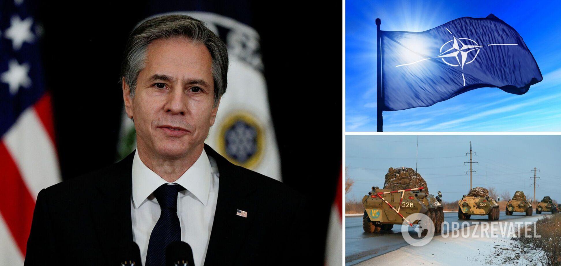 Госсекретарь США поедет в Брюссель обсуждать скопление войск РФ возле Украины
