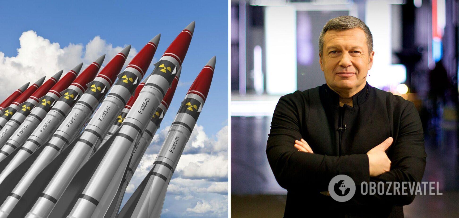 У Соловьева в студии обсуждали 'демонстрационный ядерный взрыв' для запугивания Украины. Видео