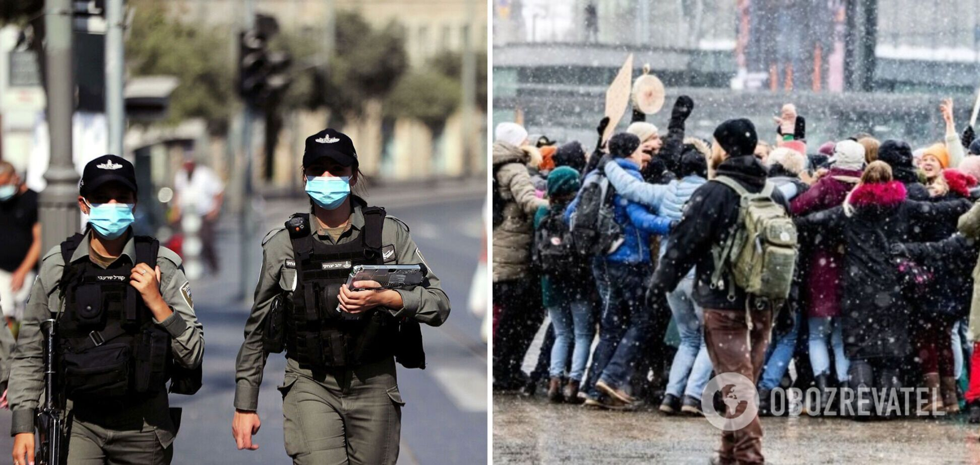 В Европе арестовали десятки людей, которые вышли на протесты из-за карантина. Видео