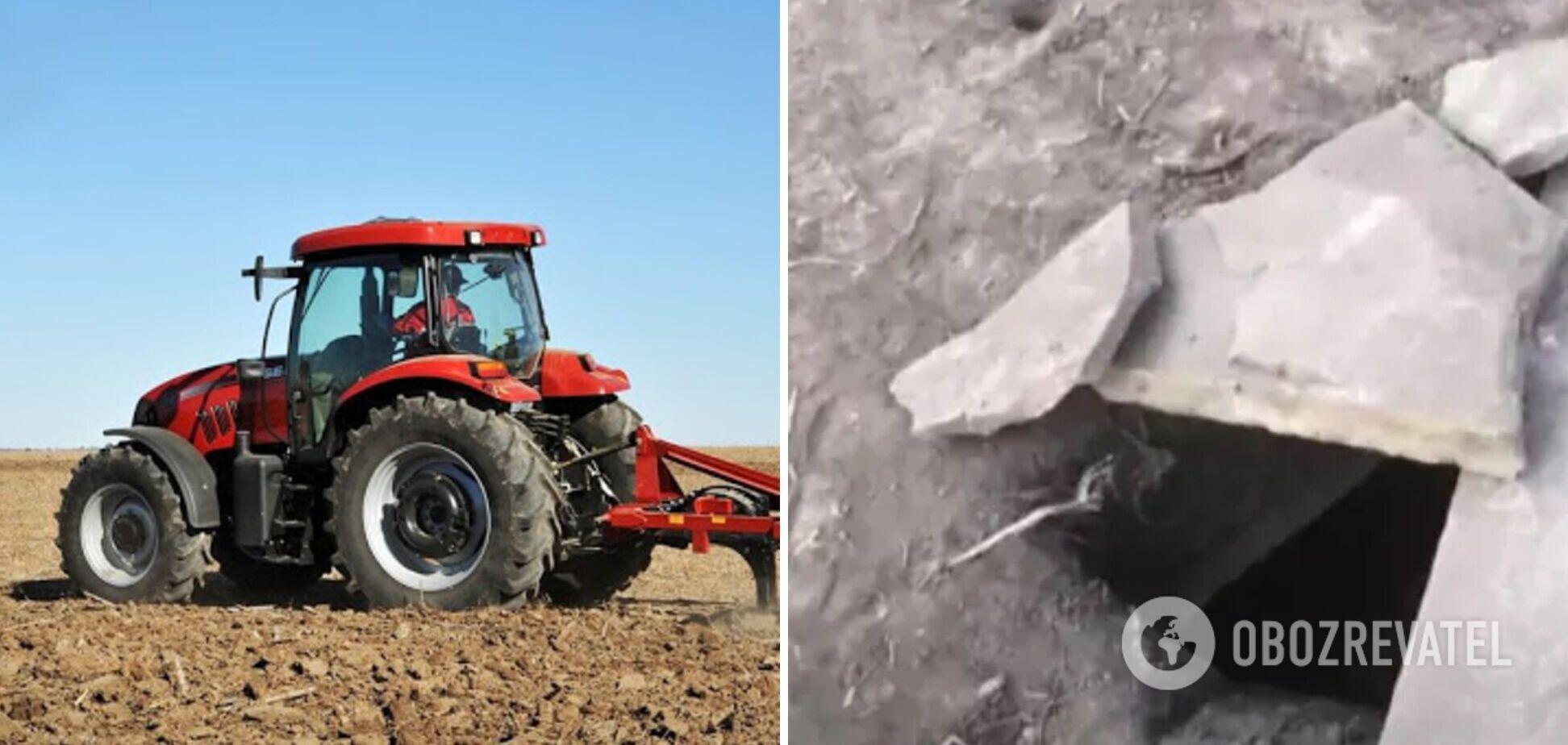 На Тернопольщине тракторист нашел саркофаг возрастом 5 тысяч лет. Видео