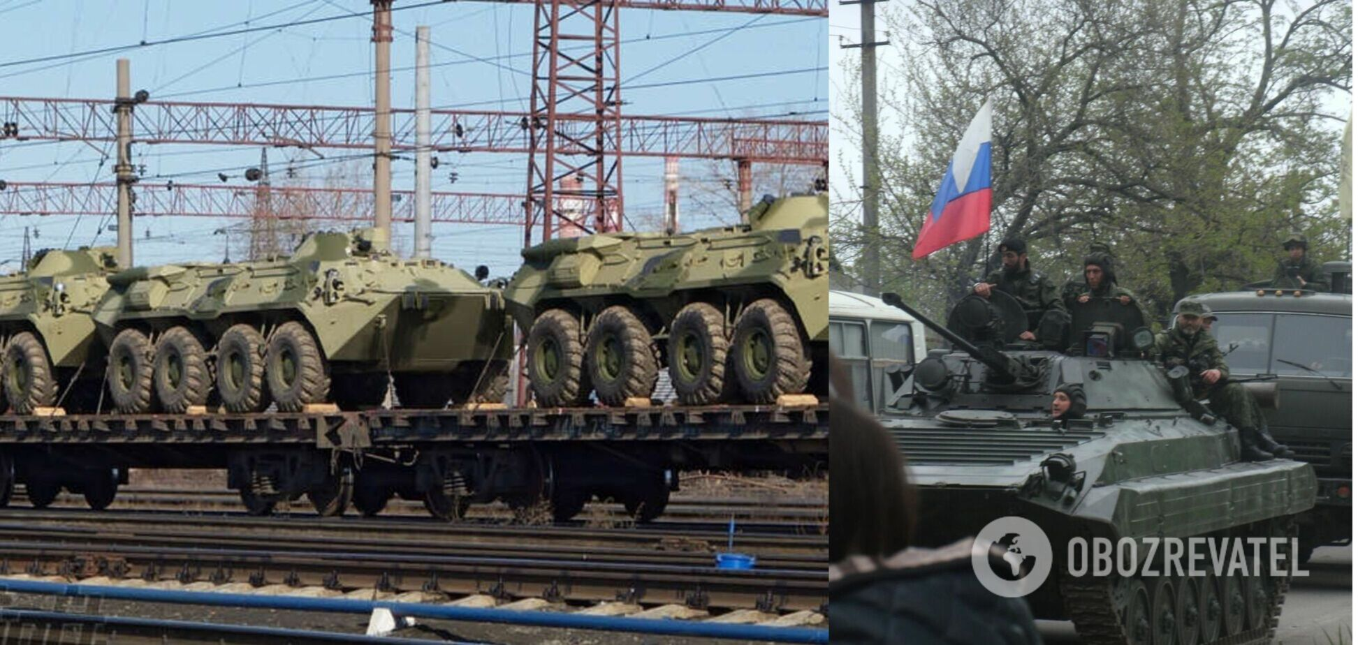 Новые эшелоны военной техники РФ заметили у границы с Украиной. Видео