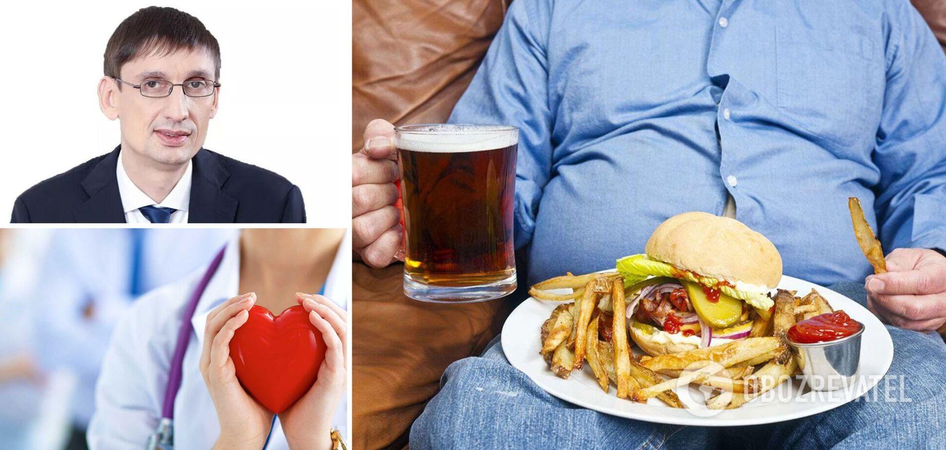 Президент Асоціації дієтологів розповів про причини серцево-судинних захворювань українців