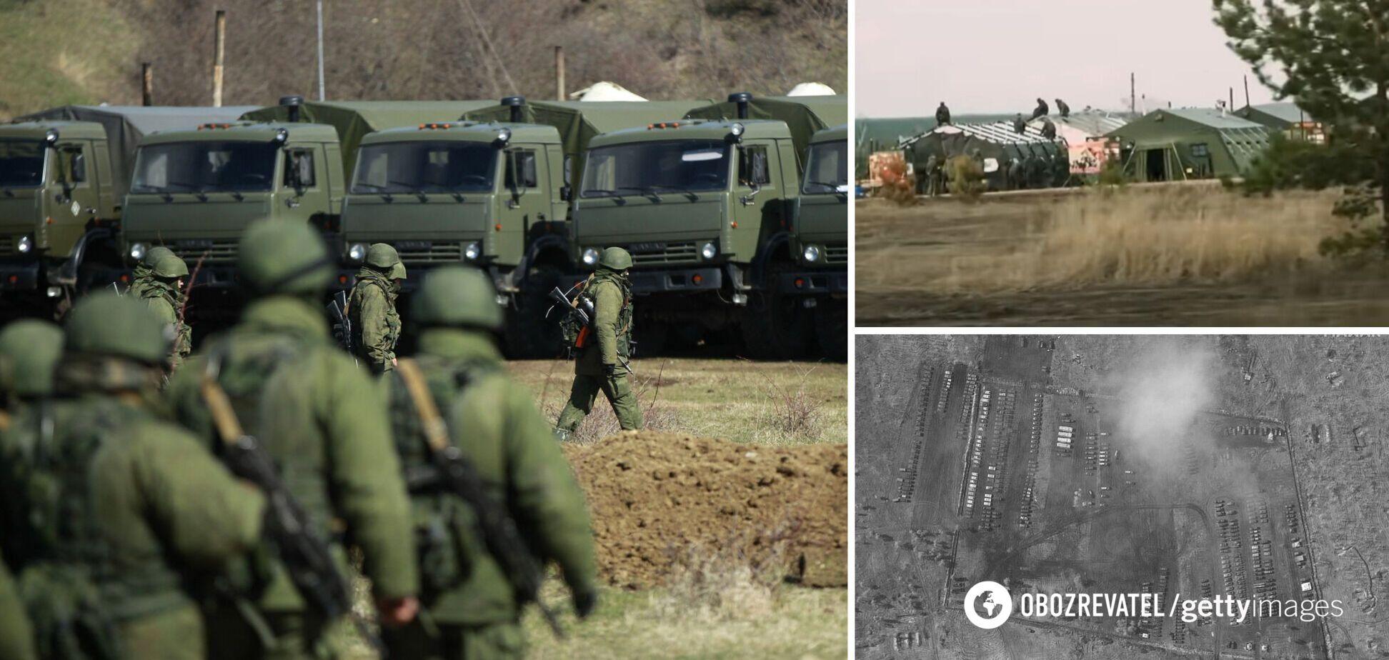 Британские журналисты показали изнутри лагерь войск РФ у границы Украины. Видео