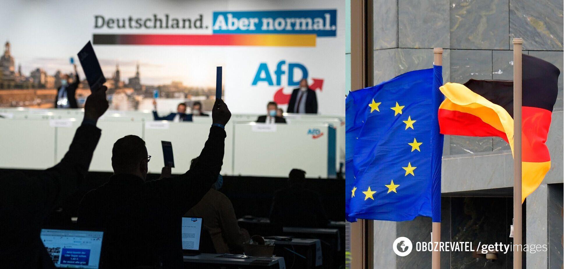 В Германии партия 'друзей Путина' выступила за выход страны из ЕС