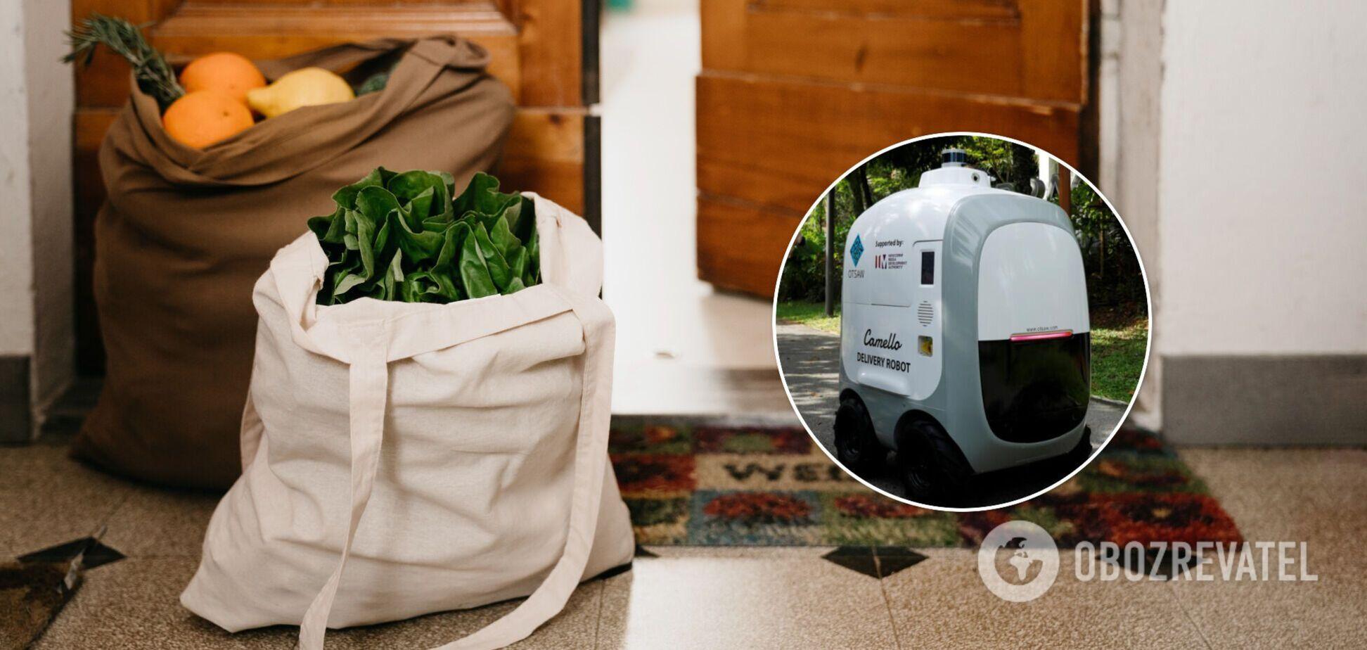 Робот доставляє продукти додому