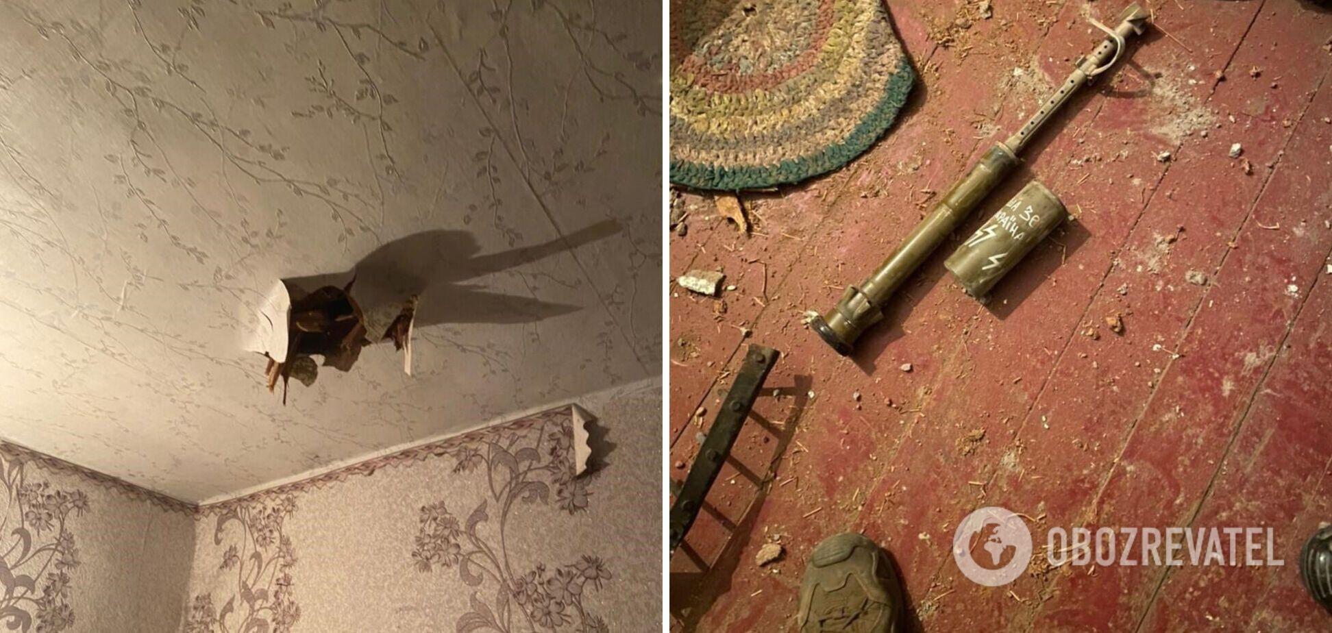 Российские оккупанты на Донбассе забросали жилой сектор минами с нацистской символикой. Фото