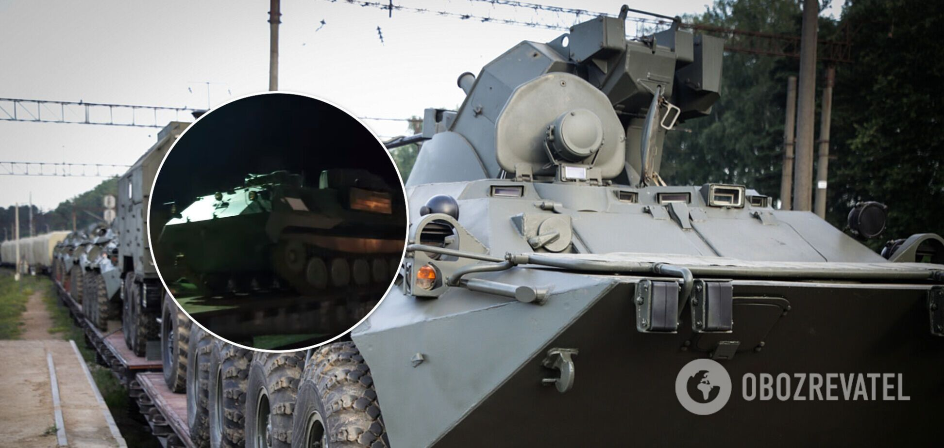 До Криму разом з ешелоном військової техніки перекинули 'псковських десантників'. Фото та відео