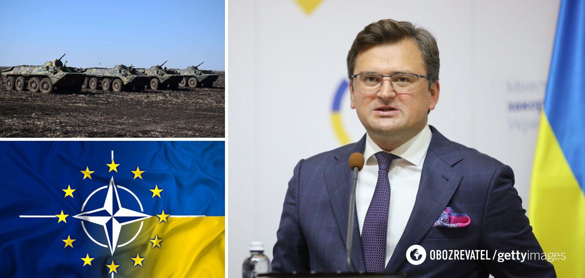 Кулеба: Україна не планує наступу на Донбас, а РФ стягнула війська за трьома напрямками