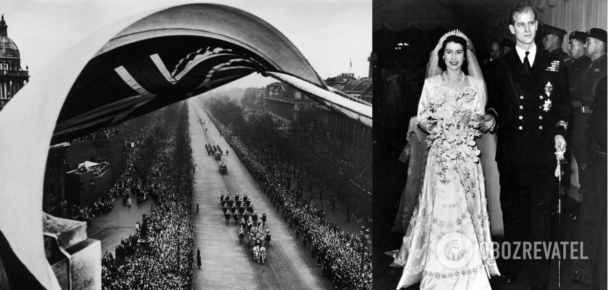 На весіллі принцеси Єлизавети і герцога Філіпа було 2 тисячі гостей