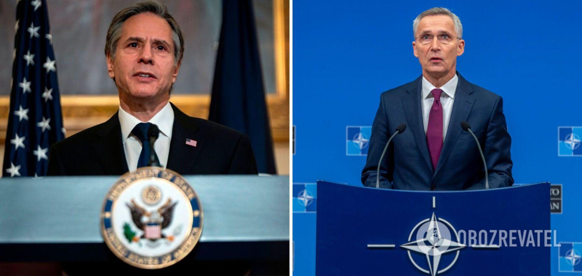Госсекретарь США Энтони Блинкен и генсек НАТО Йенс Столтенберг