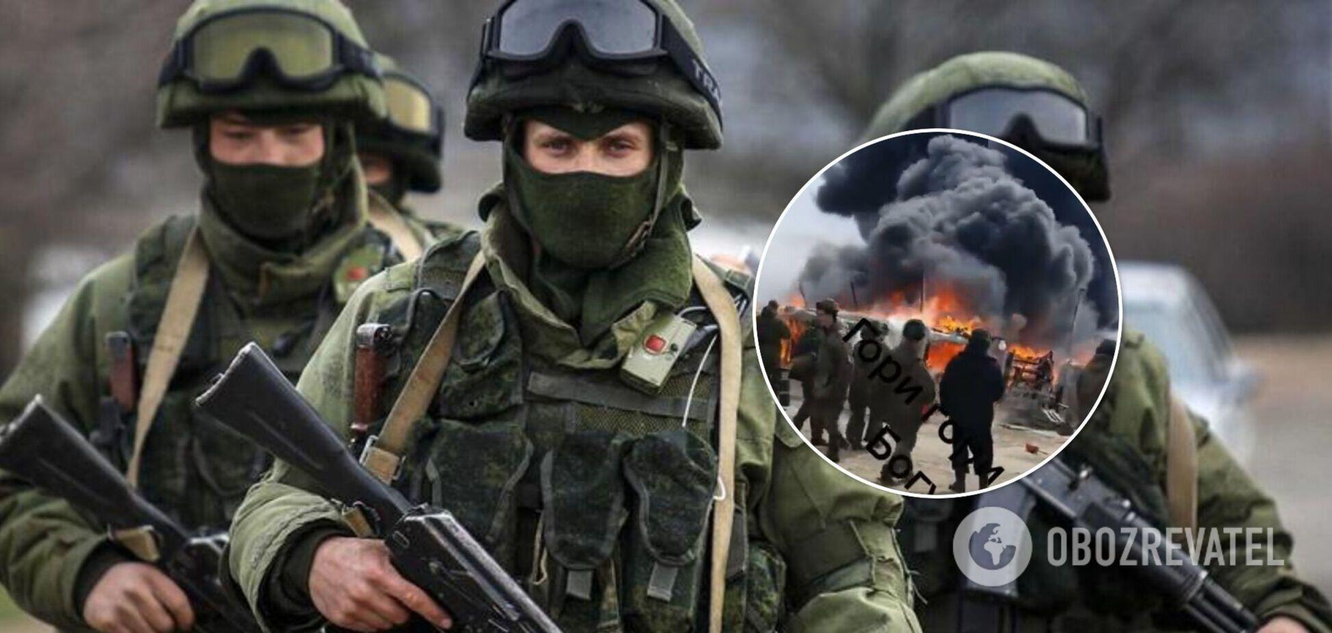 Пожежа в російському військовому таборі біля кордону України