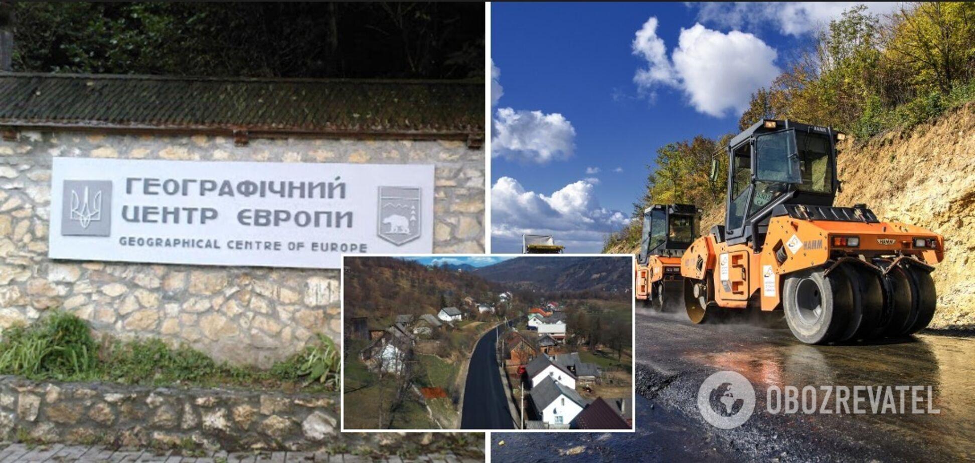 В селе Деловое Закарпатской области обустраивается верхний слой дорожного покрытия в рамках 'Большого строительства'