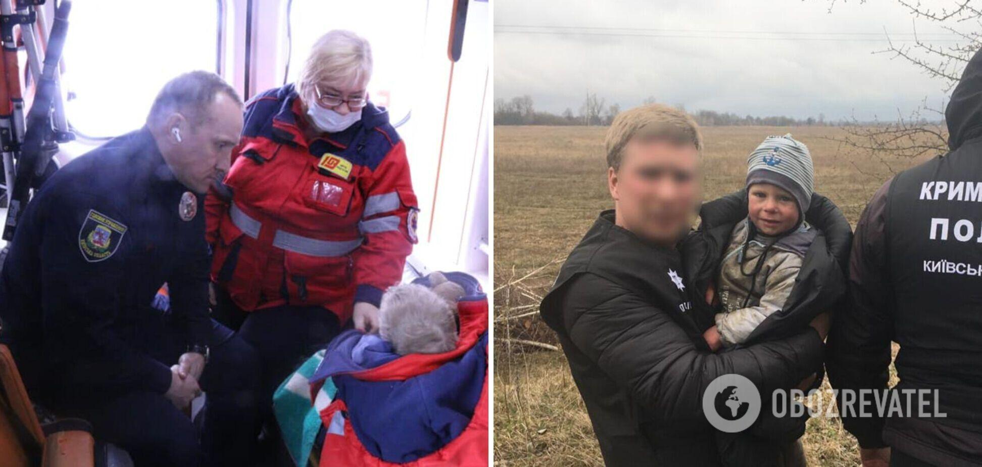 З'явилося перше відео з 2-річною дитиною, яка переночувала в лісі на Київщині