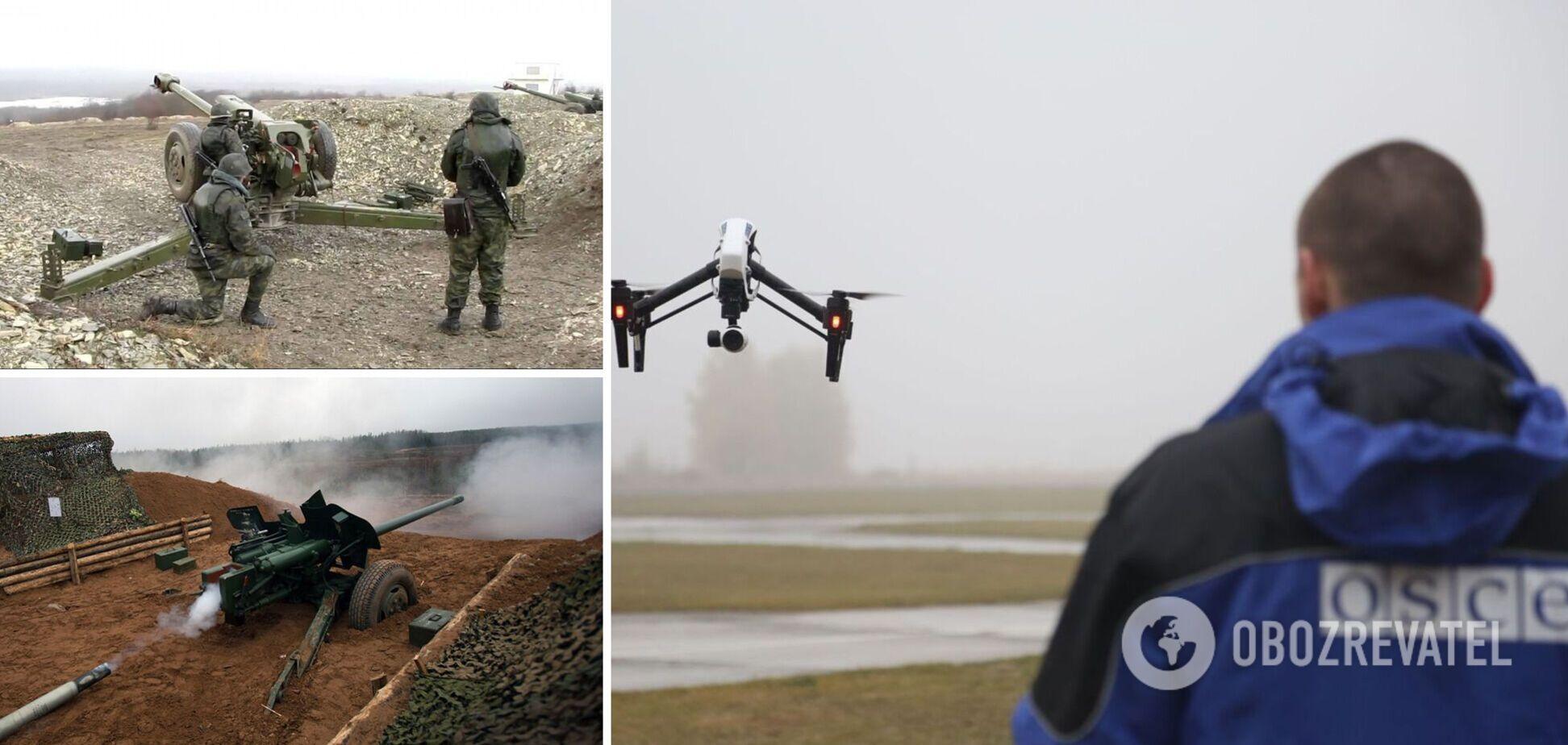 На полигонах 'Л/ДНР' зафиксировали сотни единиц военной техники и вооружения