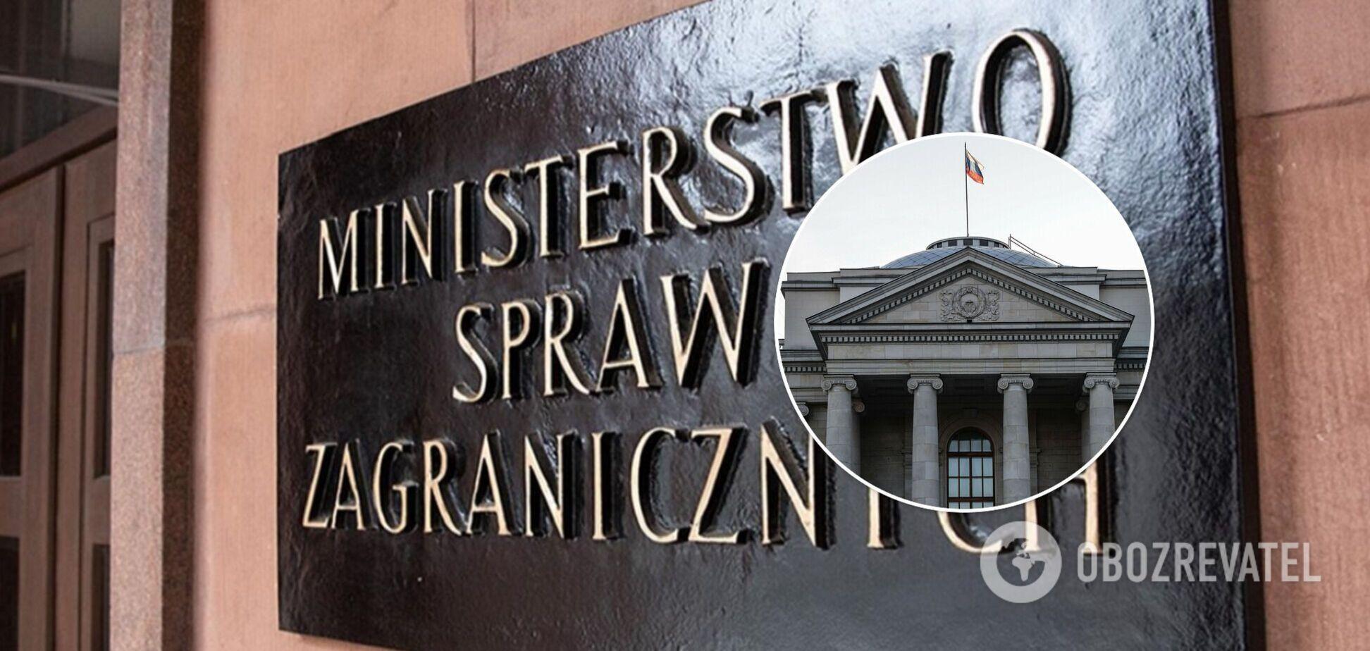 Польща вишле трьох російських дипломатів через завдання шкоди країні
