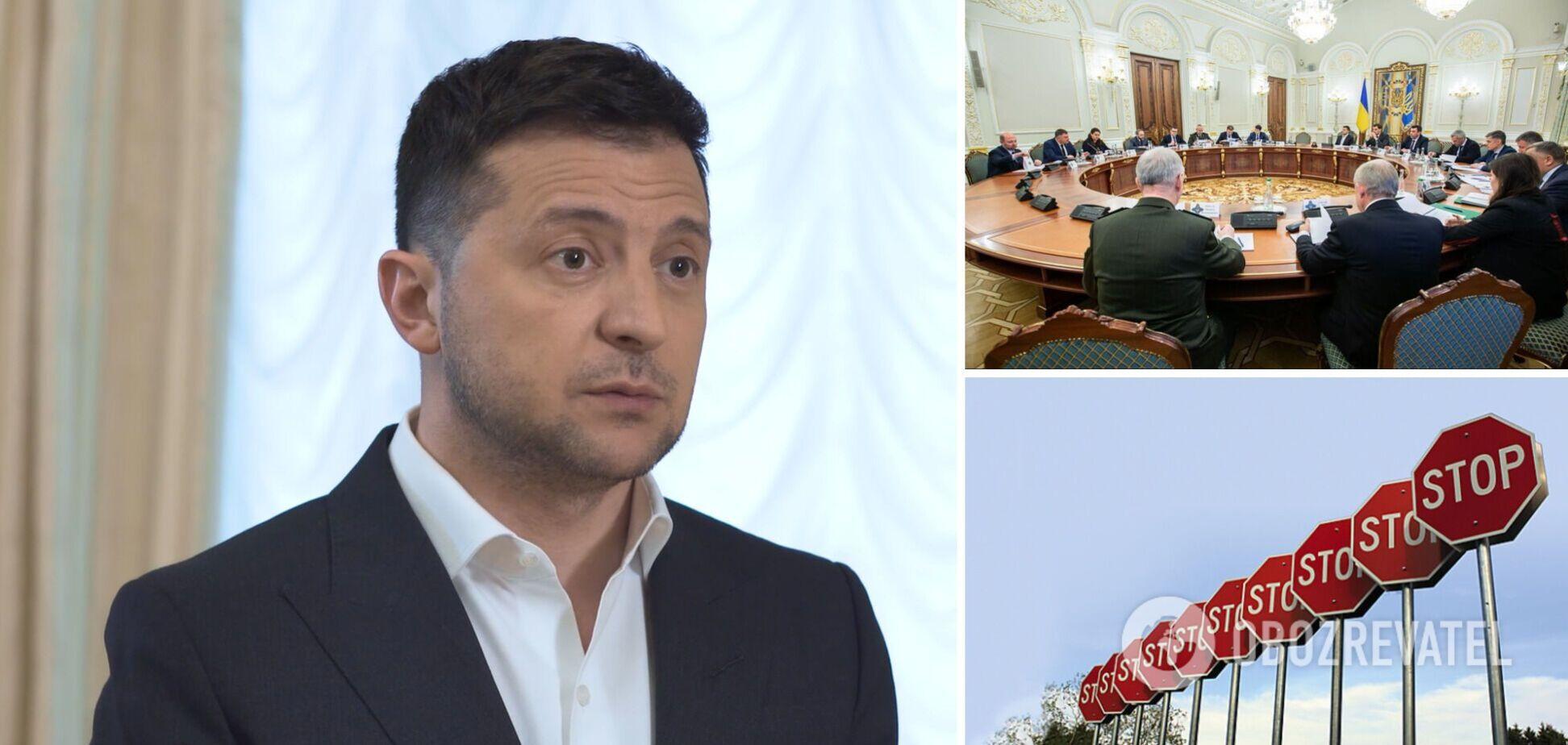 Зеленський розповів про нові санкції РНБО