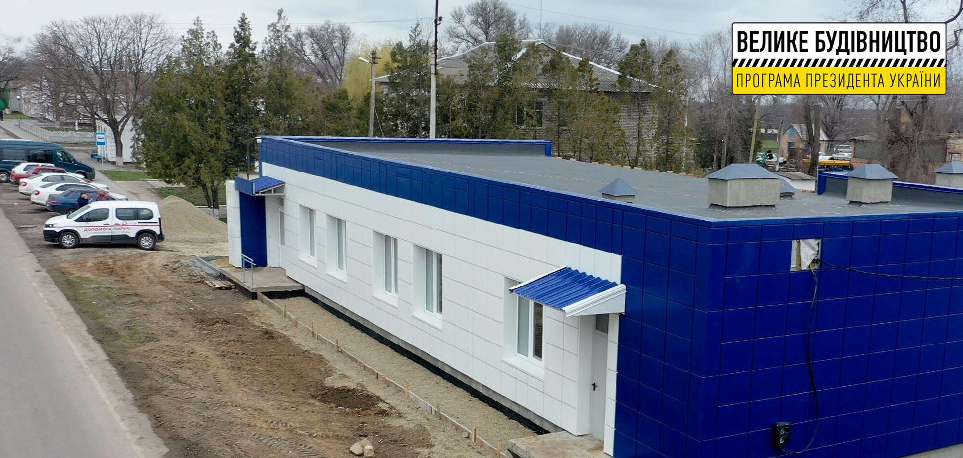У мережі показали нову амбулаторію 'Великого будівництва', зведену з нуля на Дніпропетровщині