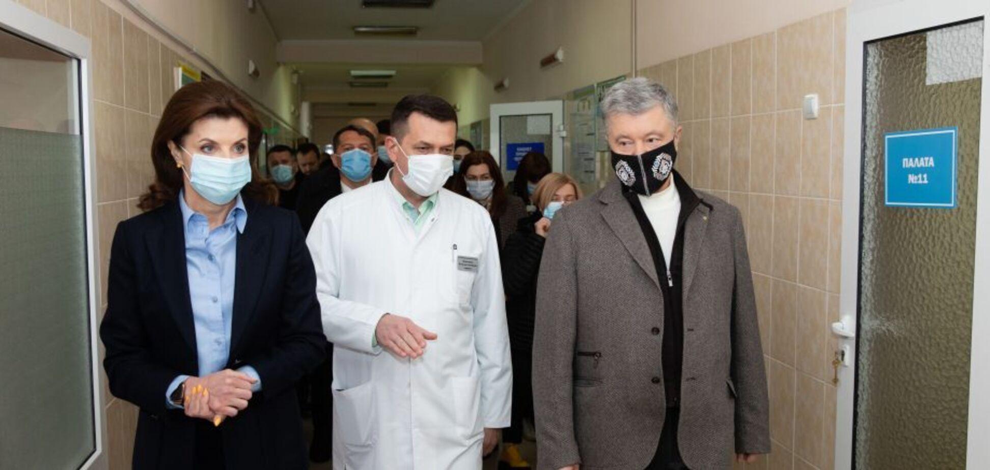 Петро Порошенко у Черкасах презентував медикам антиковідний план