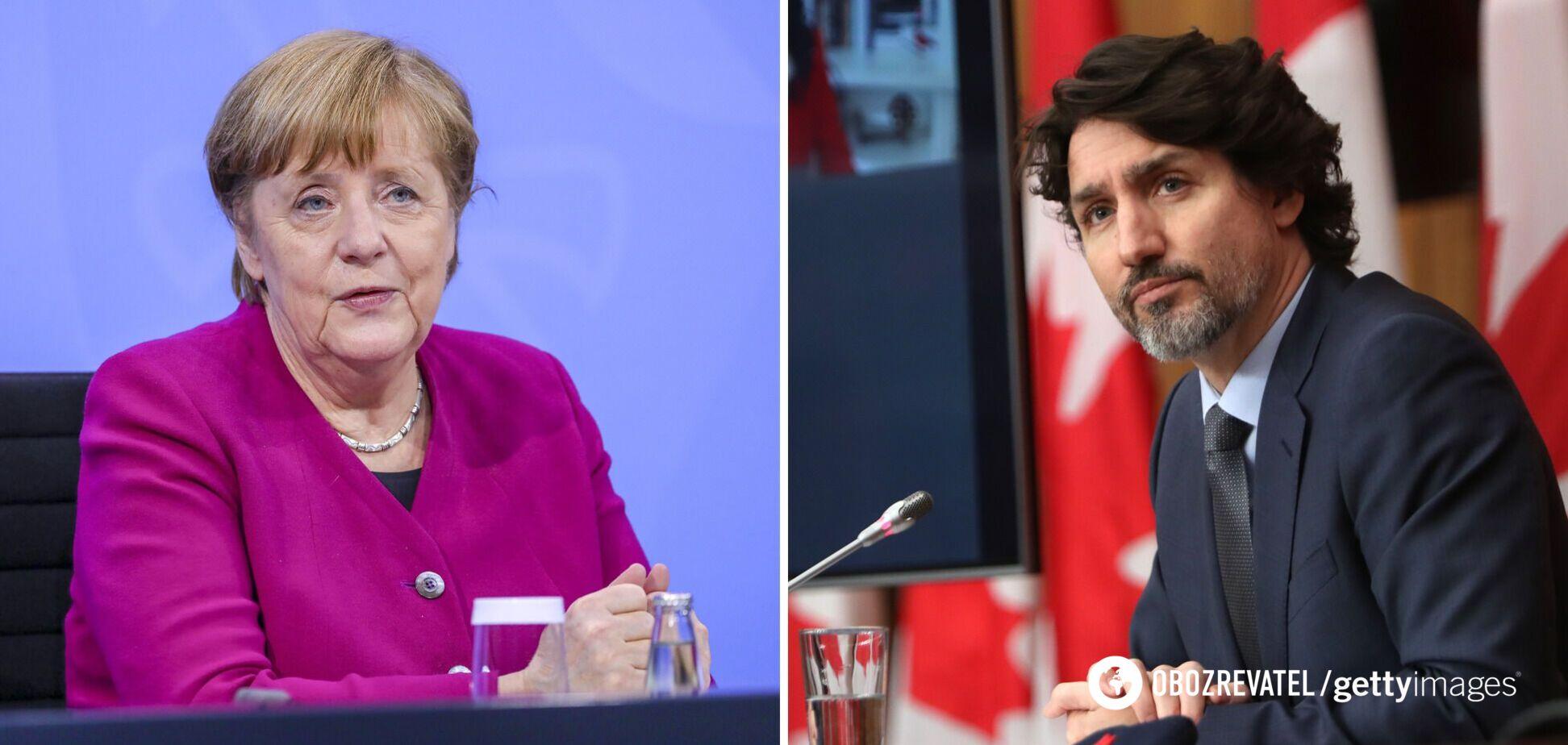 Меркель и Трюдо раскритиковали усиление военного присутствия РФ возле Украины