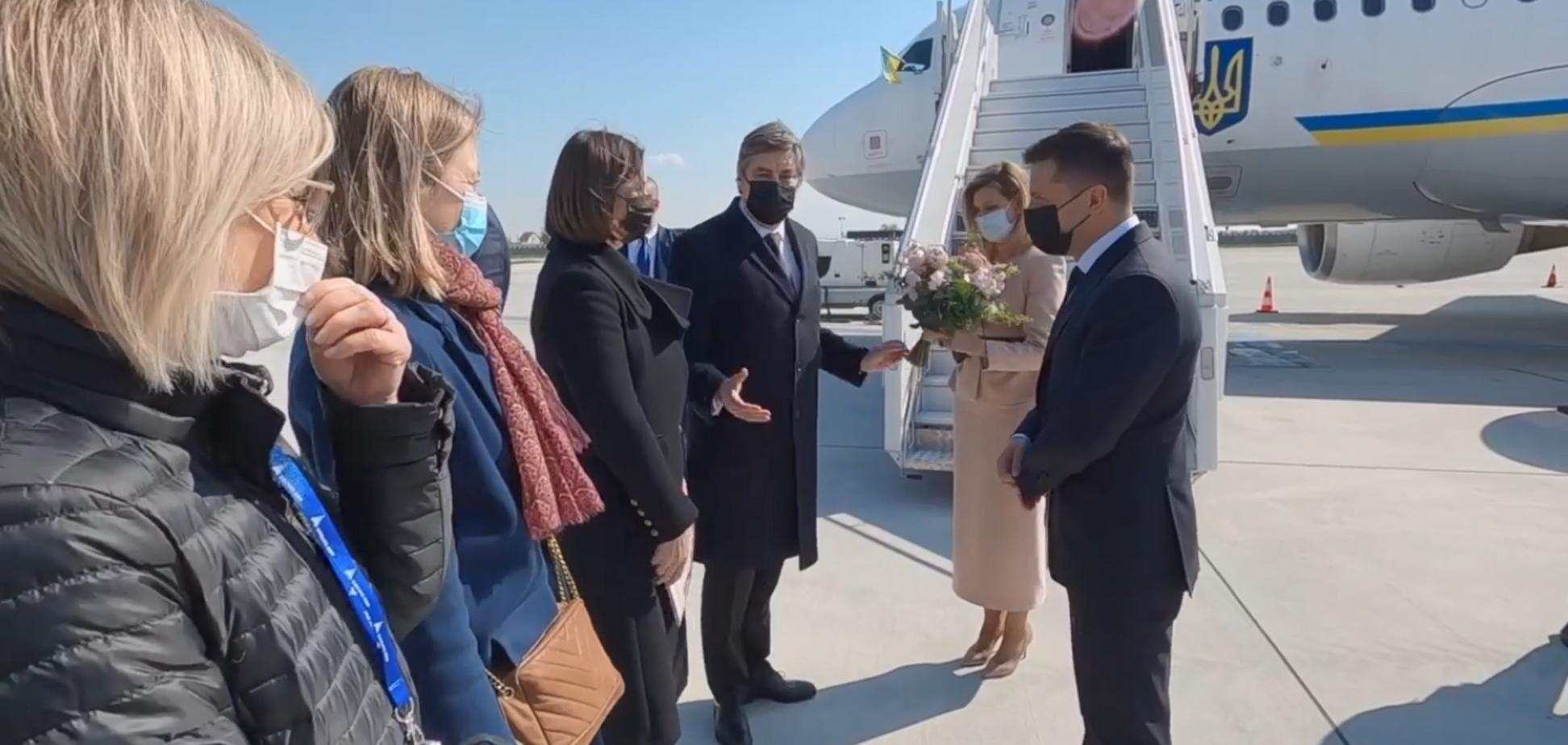 Президент Украины Владимир Зеленский и первая леди Елена Зеленская
