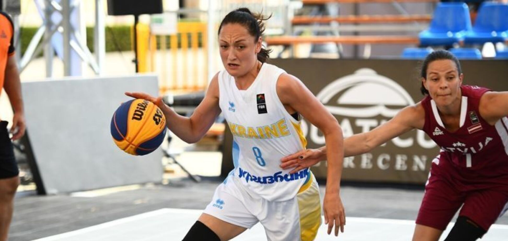 Матч Украина - Латвия по баскетболу 3х3