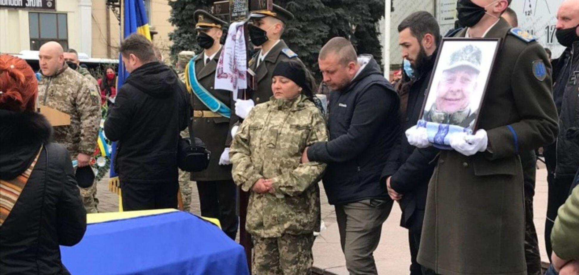Жена погибшего воина ВСУ Алексея Мамчия
