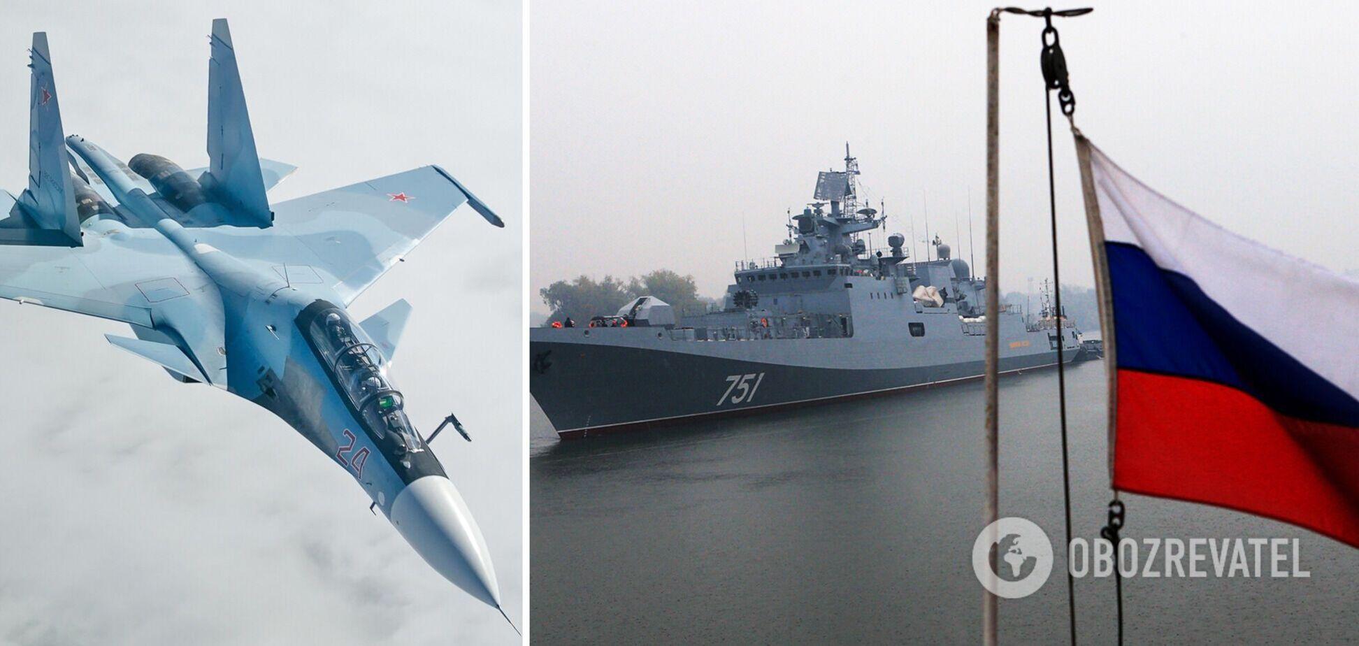 Росія перекинула кораблі та літаки нібито для навчань на Чорному морі