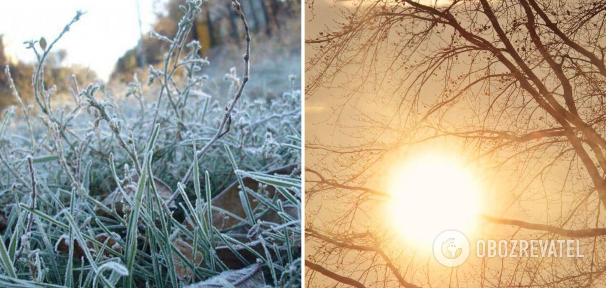 Україну знову охоплять заморозки: з'явився прогноз погоди на неділю. Карта