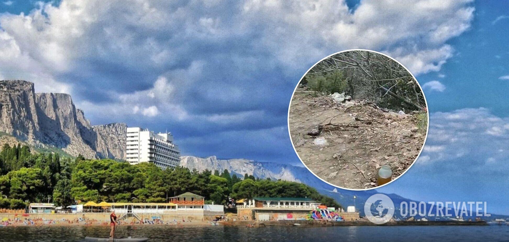 В сети показали, как оккупанты замусорили Форосский парк в Крыму. Фото и видео