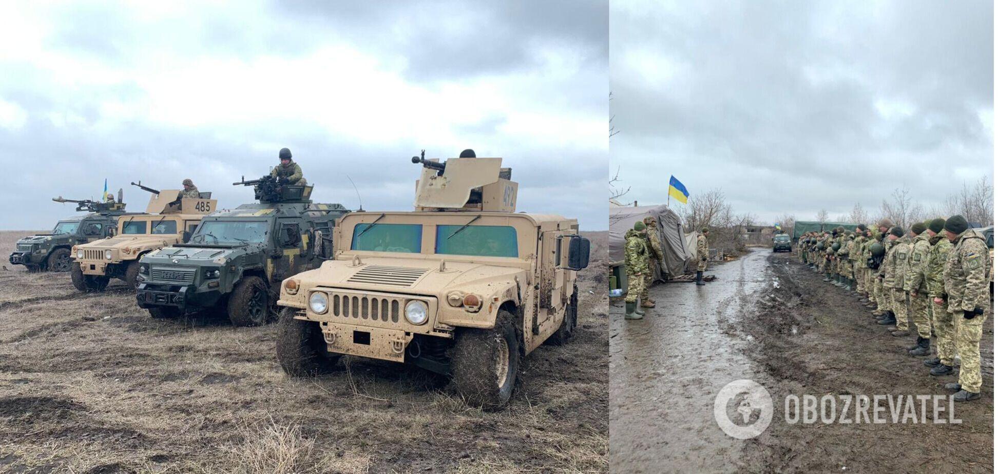 Українські прикордонники провели навчання в зоні проведення ООС
