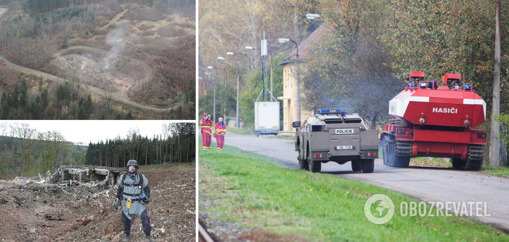 Взрыв боеприпасов в Врбетице
