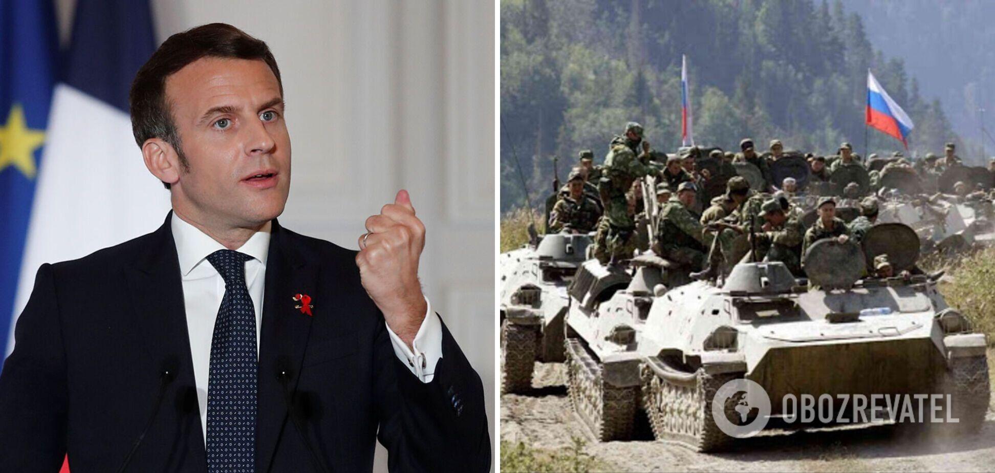 Макрон попередив Росію, що Захід не погодиться з новими військовими операціями в Україні