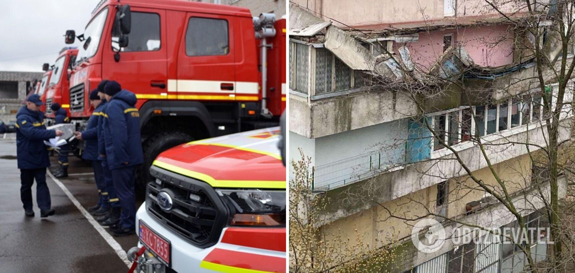 В Киеве обвалились балконы в доме