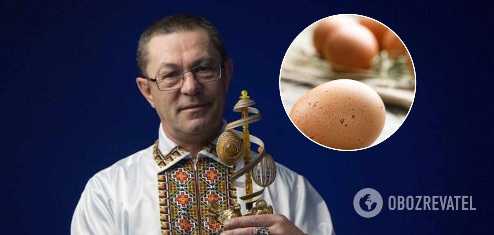 Українець зробив у яйці більше 52 тисяч отворів і встановив два світові рекорди. Вражаючі фото