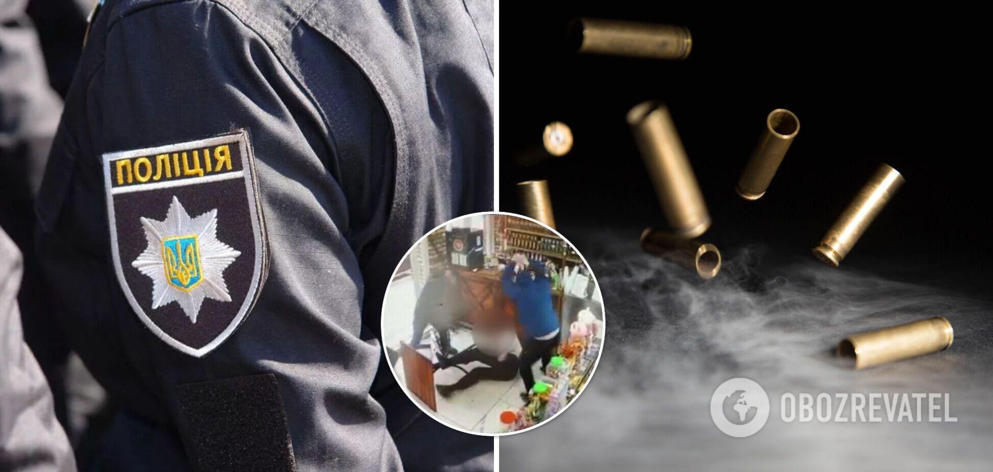 На Харківщині чоловіка побили битами і розстріляли в магазині. Фото і відео 18+
